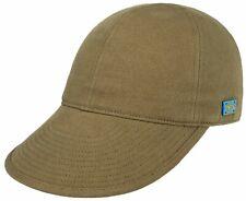 STETSON SUN GUARD ® DUCK IVY FLATCAP CAP KAPPE MÜTZE TEXAS 61 HELLBRAUN COTTON
