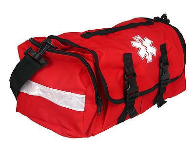 First Responder Emt Paramedic On Call Trauma Bag W  Reflectors  Red 17 X7x10