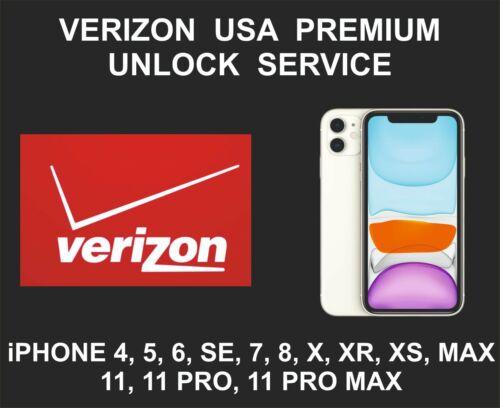 Verizon USA Premium iPhone Unlock Service, fits iPhone 7, 8, X XR XS 11 Pro, Max