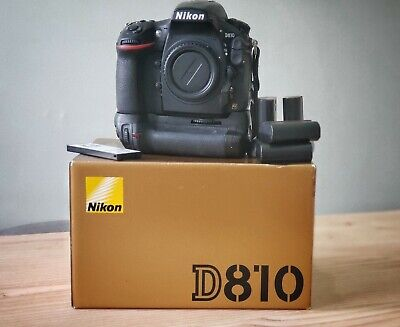 Nikon D810 36.3 MP Camera w/ Battery Grip, 4 Batteries, Remote, Battery Charger