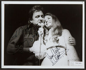 JOHNNY-JUNE-CASH-SIGNED-10X8-PHOTO-GREAT-STUDIO-IMAGE-LOOKS-GREAT-FRAMED