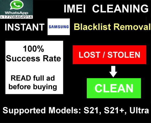 Samsung Blacklist removal service, INSTANT SWAP S21, S21+ and S21 Ultra - FAST!