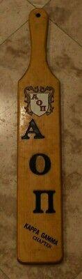 Rare 1953 KAPPA GAMMA CHAPTER 22 In Wooden Fraternity Paddle-Attlebora Mass.