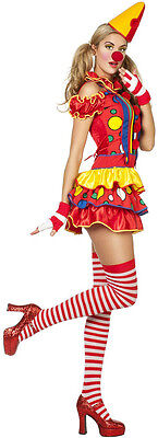 Sexy Miss Bubbles Clown Damenkostüm NEU - Damen Karneval Fasching Verkleidung Ko