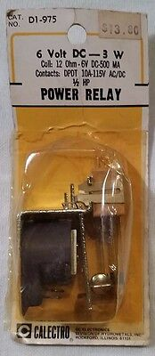 Gc Calectro Power Relay Dpdt 10a 6vdc 3w D1-975 New