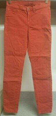 "J Brand Women's Skinny Leg ""Blood Orange"" Stretch Jeans 27 Actual 26"" X 29"""