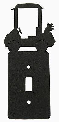 Golf Cart Single Switch Plate Black