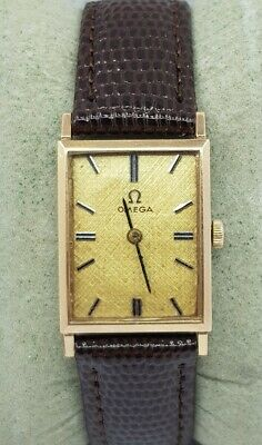 Vintage Omega Midsize Rectangle Gold Plated Swiss Made Watch Cal 625 Ref 111.053