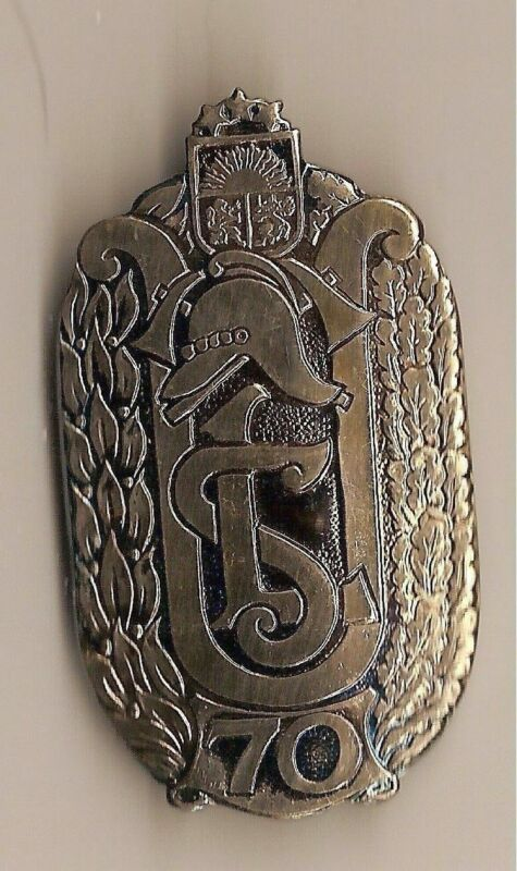 Badge. Fire Department. Latvia - 70 years of the Latvian Fire Brigade...