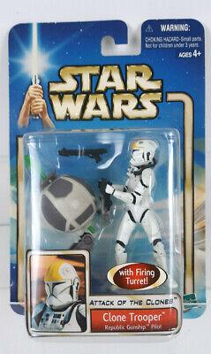 Star Wars Attack of the Clones Clone Trooper Republic Gunship Pilot 2002 Hasbro