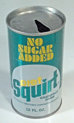 Vintage Diet Squirt Soda Pop Can 12oz Straight Steel Sherman Oaks CA St Paul MN