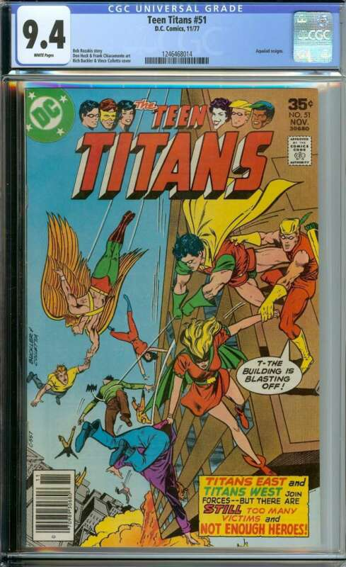 TEEN TITANS #51 CGC 9.4 WHITE PAGES