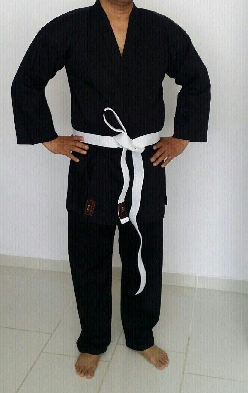 Karate Anzug schwarz 100% Baumwolle für Erwachsene und Kinder Preiswerter AN:3