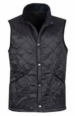 Barbour Men's Black Perble Quilted Gilet Snap Button Vest