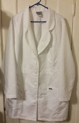 Women's Grey's Anatomy Nursing Doctor's White Lab Coat Size 5XL  - White Doctor's Coat