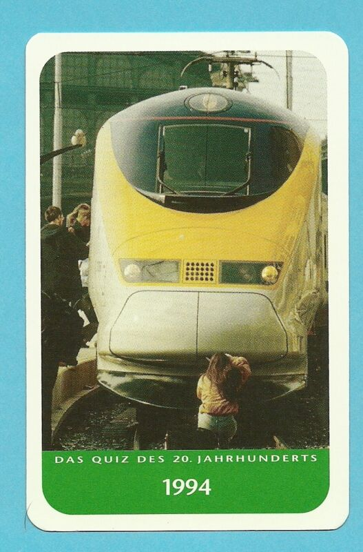 The English Channel Tunnel Train Cool Collector Card from Europe