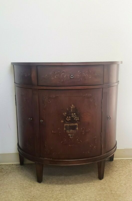 Ethan Allen French Style Collectors Classics Demilune Console Cabinet 13-9206