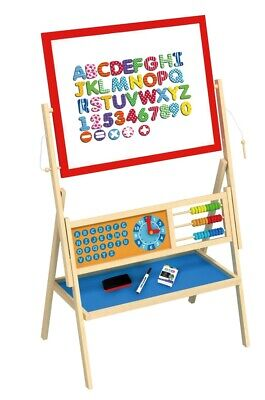 Toysters Creative Wooden Art Easel for Toddlers | Deluxe 2in1 Magnetic Dry Erase - Easel For Toddler