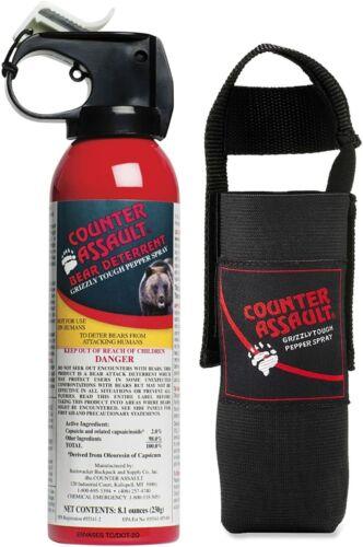 Counter Assault ULTRA HOT 8.1oz Bear Spray Deterrent W/ Holster