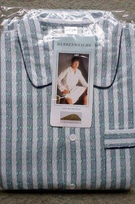 Warmes Herren Nachthemd angeraut gewebt Baumwolle Flanell Thieme Gr.46 NEU (C) ()