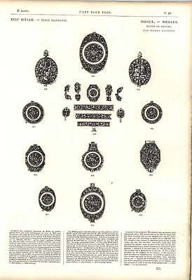 1863 Rare Specimens Of Watch Cases Louis Xiii Artwork