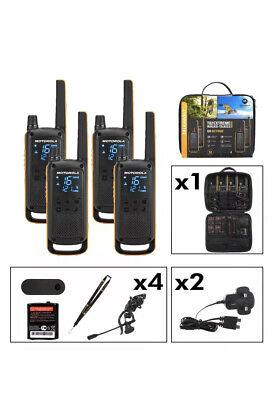 4 x Motorola T82 Extreme Two-Way Radios Long Range 10km Quad PMR 446 IPX4
