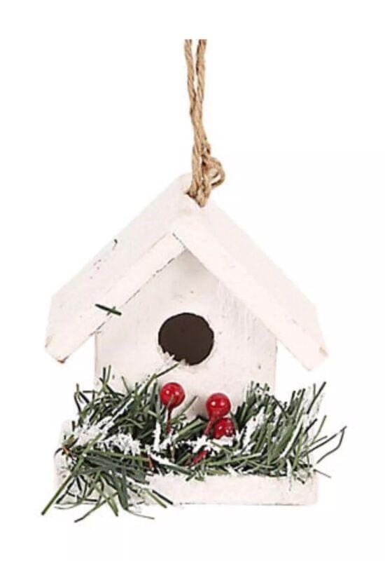 GLUCKSTEIN HOME LED TRIM SNOWY HOUSE ORNAMENT COUNTRY FARMHOUSE DECOR