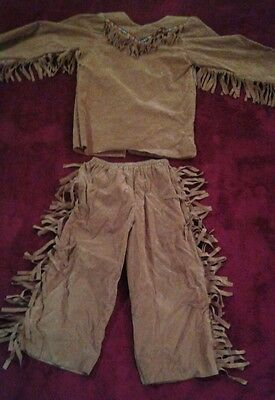 Kinder Indianer Kostüm Größe 4 Verkleidung Beastly Freunde Halloween (G)