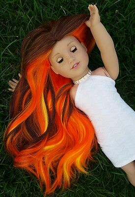 OOAK Custom Doll Wig for American Girl dolls in Campfire Stories