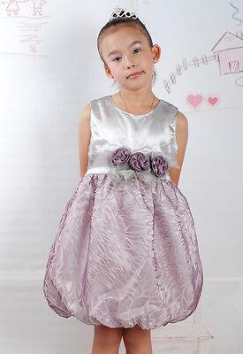 Blumen-mädchen-kleider In Pink (Neu Blumenmädchen Party Festlich Kleid in Pink,Dunkles Violett in 2 to 5 Jahre)