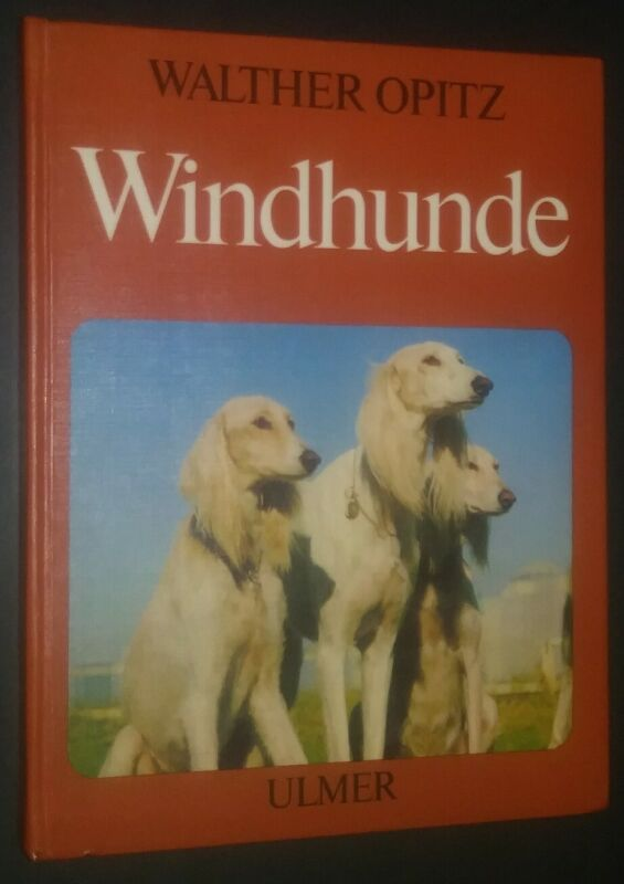 Windhunde by Walther Opitz Book in German Saluki Cover