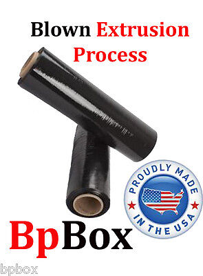 85 Ga Stretch Film Roll Shrink Wrap Blown Extrusion 18 - Black Rolls
