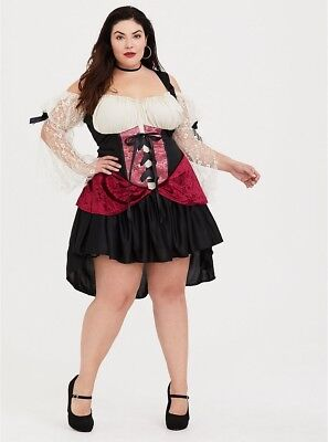 TORRID womens (3X-4X)  Leg Avenue Wicked Wench Peasant Dress Lace Sleeve Costume - 4x Womens Costumes