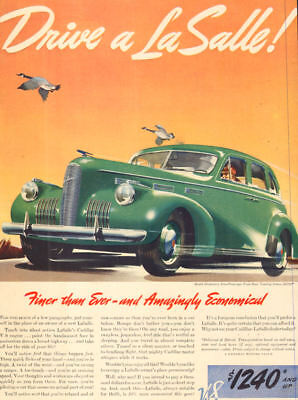 1938 Classic Car AD '38 La SALLE V-8 , 4 dr. Touring Sedan , Green Lovely 062018 8 4dr Sedan Car