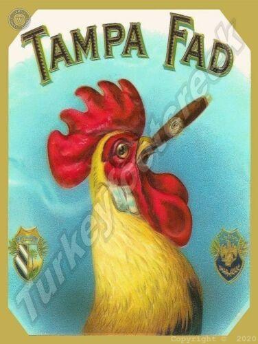 """TAMPA FAD CIGARS 9"""" x 12"""" Aluminum Sign"""