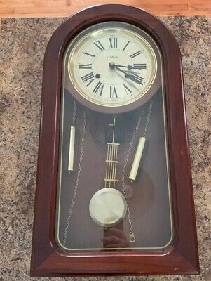 WALTHAM STAMFORD 31 DAY CHIMING WALL CLOCK KEY WIND MOVEMENT 24