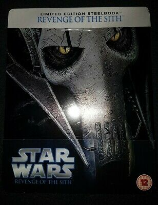 Star Wars Revenge of the Sith LIMITED STEELBOOK BLU RAY