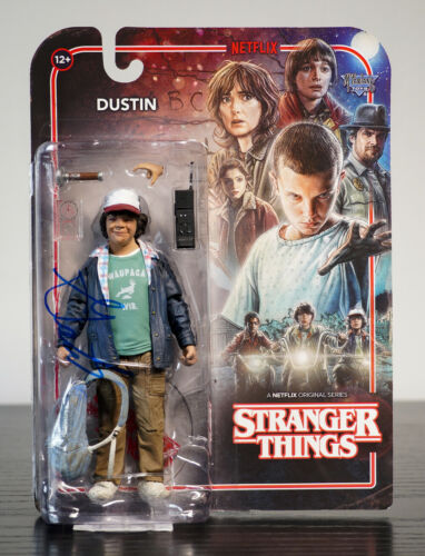 Stranger Things McFarlane Dustin Figure Signed By Gaten Matarazzo 100% + COA