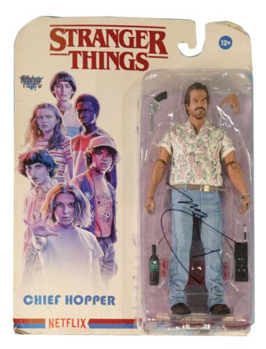 Stranger Things McFarlane Hopper Figure Signed by David Harbour 100% + COA