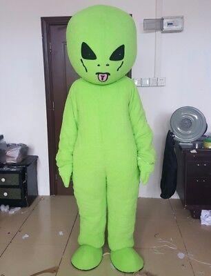 Halloween Green Et Alien Mascot Costume Adults Cosplay Party Fancy Dress (Cute Alien Halloween Kostüme)