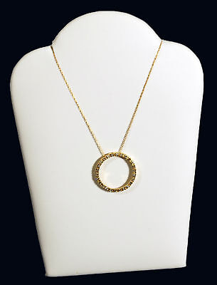 White Leather Padded Necklace Easil Display 5 14