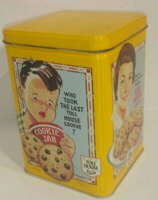 Vintage Nestle Toll House Cookie Tin w/ Recipe.