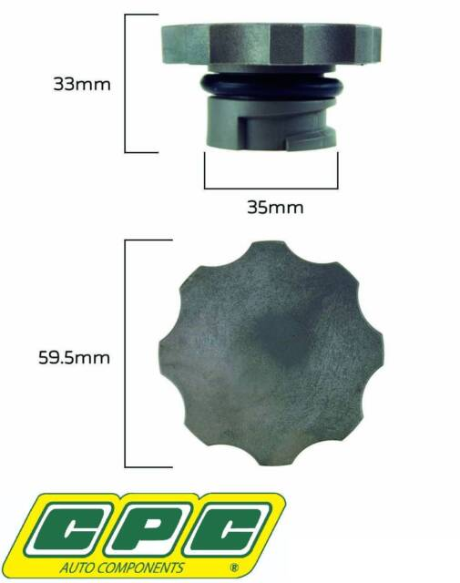 CPC RADIATOR CAP FOR HOLDEN CREWMAN VY LS1 5.7L V8