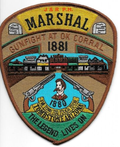 "Tombstone  ""Gunfight OK Corral"" , AZ (4.5"" x 5.5"") shoulder police patch (fire)"