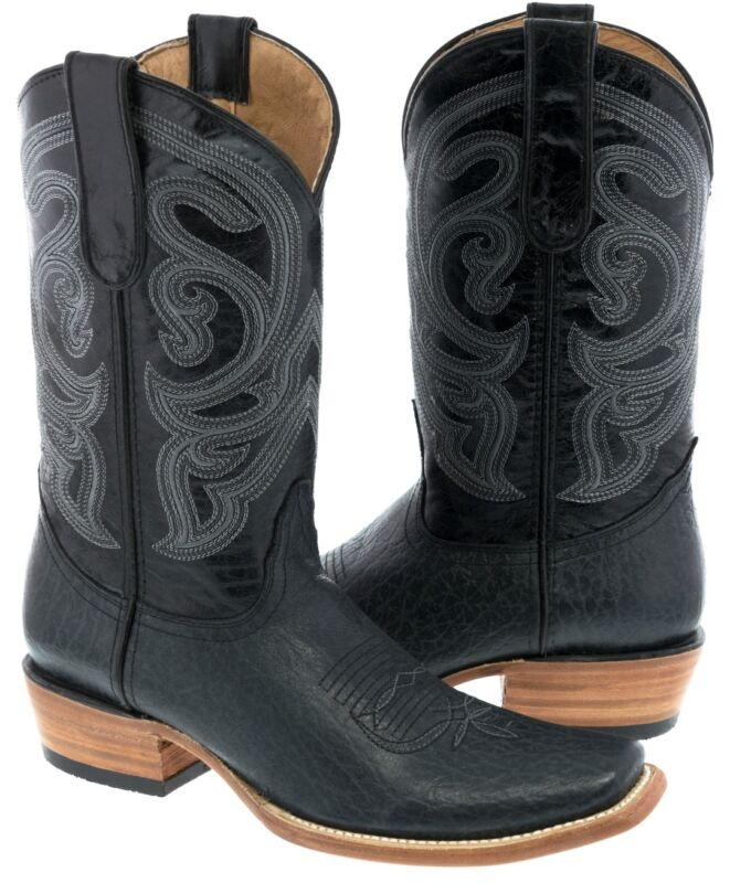 Mens, Gray, Distressed, Real, Leather, Cowboy, Boots, Western, Casual, Dubai, Square, Toe