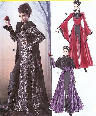PATTERN for Evil Queen costume McCalls 6818 Sz 4-20 Once Upon A Time Coat - Once Upon A Time Queen Costume
