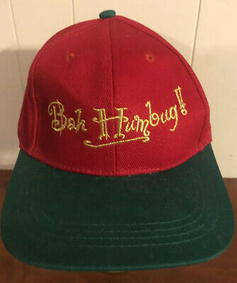 Snapback Hat Cap Christmas Holiday (Bah Humbug Hat)