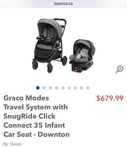 Graco Modes Click Connect Travel System Stroller with 2 Bases