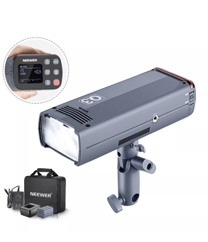 Neewer Flash Strobe 200Ws 2.4G TTL Flash Light 1/8000 Monolight with Battery
