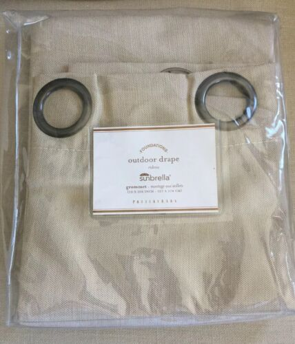 Pottery Barn Sunbrella Outdoor /Indoor Grommet Drape LINEN S